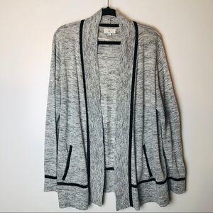 Lou & Grey Heathered Open Cardigan XL EUC